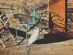 Random Chair & Shadow (michelle-robinson.com) Tags: morninglight iphone7plus 4tografie adelaidephotographer stilllife cushion blue australia adelaide emptychair pastelblue vsco lightshadows wroughtironchair everydayaustralia chair adelaideartist colour dailylife observations flickrelite shadows shotoniphone procamera