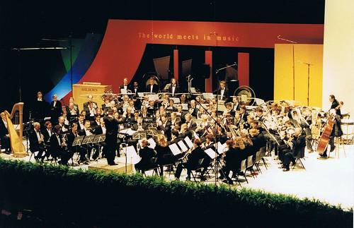 Koninklijke Harmonie Orpheus tijdens het WMC Kerkrade, 1997