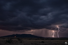 Perspective (Steven Maguire Photography) Tags: lightning mountians cochisecounty thunderstorm clouds parker canyon lake landscape monsoon monsoonstorms huachucamountians arizona