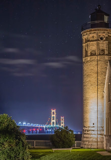 Mackinac Point Lighthouse in the Night