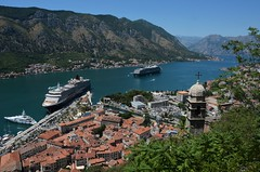 View over Kotor (EvenHarbo) Tags: nikond7100 nikon mountain montenegro fjord cruiseship cruise queenvictoria city kotor yacht bayofkotor mountains