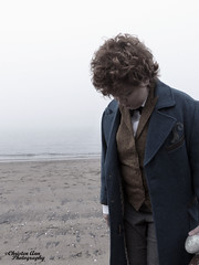 P1450028 (Christen Ann Photography) Tags: cosplay newt newtscamander fantasticbeasts harrypotter potterhead photography portrait beach fog weather auckland newzealand 2017 photoshoot cosplayphotoshoot mist potter magical
