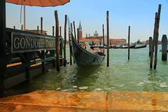 Venetian gondola tours (JensRongved) Tags: venice venezia gondola italy sea front poles