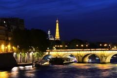 EL SENA Y LA TORRE EIFFEL (liaadrianagonzalez) Tags: noche rio puente paris torre eiffel