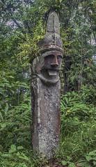 Megalithic stone statue - North Nias (Hannes Rada) Tags: indonesia nias island megalithic stone statue
