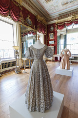 Post-Coronation Dress (Carol Spurway) Tags: 1830s albert firstmeeting hha harewood harewoodhouse harrogate historichousesassociation itv jennacoleman leeds postcoronationdress queenvictoria treasurehousesofengland victoria wetherby yorkshire costume cream drama dress film filmseries gown green interior khaki longgallery rooms series white