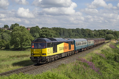 60026 1J69 (DM47744) Tags: class train trains diesel diesels elr east lancashire railway railroad heritage br british rail track traction preserved nikon summer gala 2017 d3100 travel transport transportation mk1 tracks carriage railways colas railfreight 60 brush type 5 60026 tug blue orange burrs country park