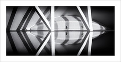 Primeres llums / The first lights (ximo rosell) Tags: ximorosell bn blackandwhite blancoynegro bw buildings valencia arquitectura architecture abstract abstracció llum luz light people calatrava ciudaddelasciencias nikon d750