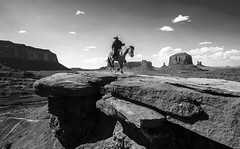 Horseman @ Monument Valley, UT/AZ. (Pranava Sharma) Tags: monochrome horse black white blackandwhite bw sky clouds sun sunnyday summer monumentvalley monument rock rocks mountain mountains hat horseman navajo navajotribe monumentvalleynationalpark nationalpark usnationalpark utah arizona texture