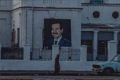 Face of Saddam in Bagdad (rvjak) Tags: irak bagdad iraq saddam hussein paint peinture portrait