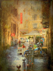 "When in Rome #35 ""Side Street"" (Leigh - ""Alive and Clicking!"") Tags: ~ rome painterly street"