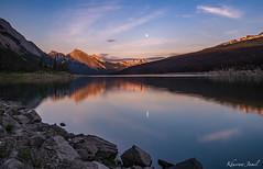 The Calm Lake (khusrawjamil) Tags: jasper medicine lake sunset nature landscape photography
