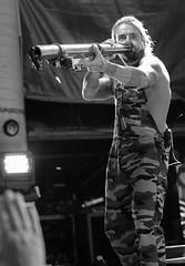 Circular Breathing (peterkelly) Tags: bw digital guelph ontario canada northamerica guelphlakeconservationarea hillsidefestival 2017 hillside music concert festival musician singer mic microphone mike xavierrudd didgeridoo hand overalls