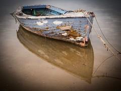 Port Augusta (Mariasme) Tags: boat texture reflection water portaugusta southaustralia blue vignette friendlychallenges detail shadesofbluesgreens vintage