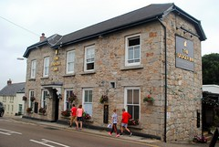 Badger Inn, Lelant (zawtowers) Tags: cornwall kernow summer holiday break vacation july 2017 carbisbay porth reb tor lelant lannanta south west coast path walk late afternoon rainy wednesday 19th badger inn pub public house boozer st austell brewery local real ale beer