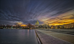 US Capitol Dawn, LE (D. Scott McLeod) Tags: uscapitol dawn longexposure draggingclouds colorfulsky washingtondc capitoldome dc reflections dscottmcleod scottmcleod