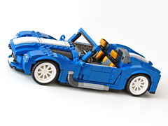 31070 Retro Roadster side (NKubate) Tags: lego creaor alternate alternative 31070 shelby cobra corvette roadster retro nkubate nathanael kuipers