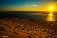 Coucher de soleil sur la dune du Pilat (didier95) Tags: dunedupilat pyla latestedebuch gironde coucherdesoleil mer dune sable reflet bassindarcachon ciel