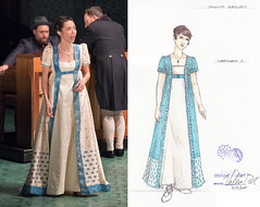 Amelia Sedley, overdress 2