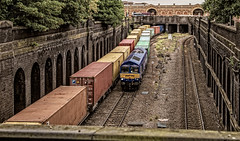 Maritime (Peter Leigh50) Tags: leicester railway wall containers train tunnel station class 66 diesel locomotive shed urban canon 6d eos