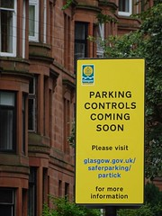 Safer Parking - not (Wider World) Tags: scotland glasgow westend tenement sandstone sign glasgowcitycouncil mendacity parking controls andy waddell head infrastructure environment land environmental services exchange house g11rx evil road residentialarea suburb dishonesty gravytrain