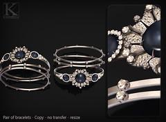 (Kunglers) Sedora bracelets AD crystal (AvaGardner Kungler) Tags: kunglers avagardnerkungler secondlifejewelry digitaljewelry diamond bracelets