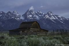 Moulton Barn (Beth Madigan) Tags: tetons grandtetonnationalpark nationalpark mormonrow moultonbarn barn historic mountains old sunrise dawn wyoming np