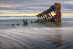 Wreck of Peter Iredale (Jerry Fornarotto) Tags: abandoned beach boat clouds coast decay disaster dramatic historical iredale iron jerryfornarotto landscape longexposure moody northwest oceansunset old oldship oregon oregoncoast outdoors pacific pacificnorthwest peteriredale reflection remains ruins rust rusted scene sea ship shipwreck shore skeleton sky steel storm sunset travel vessel warrenton water waves west western wm wreck