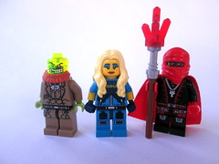 New/Updated Characters (slight.of.brick) Tags: lego crimson cloak loh update blue belle poison professor minifig
