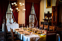 Dinner is served (almost!) (Rabican7) Tags: hawaii dinner honolulu iolani palace room luxurious lights chairs travelling visiting photography