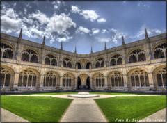 Portogallo #20 Lisbona - Jeronimos - Cloister (celestino2011) Tags: monastero architettura nuvole lisbona dojeronimos