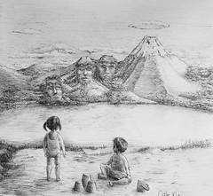 South Lake (revisited) (Marcos Telias) Tags: illustration drawing dibujo ilustración sketch boceto bosquejo arte artista artist ballpoint bolígrafo pen lápiz fantasy