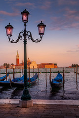 View from San Marco plaza (photoserge.com) Tags: plazza sunset light gondolas boat composition