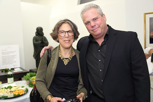 Amy Gross, editor and meditation teacher, with James Shaheen, phblisher of Tricycle Magazine, at The Shinnyo Center