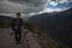 Graeme at Colca Canyon (kate willmer) Tags: graeme rain cloud storm sky canyon platform person colcacanyon peru