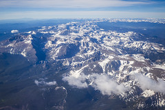 20170715_F0001: Peaks in the Rockies (wfxue) Tags: colorado rockies rockymountains mountains mountain mountainrange peaks snow summer sky clouds windowsit plane passengerplane passengerjet aerial landscape