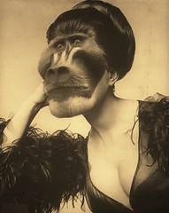 THINKING BEAUTY by KOTXETXE (KOTXETXE) Tags: animals vintage bizarre weirdart surrealart surrealism surreal surrealist collage darkart dark weird animal photomanipulation