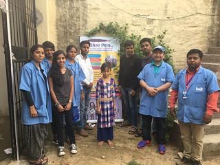 Team blue pen with Beat kid of the week-Sanju- at Sangam Vihar slum on 16.7.2017
