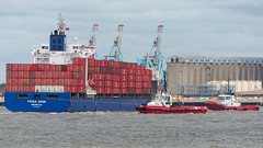 Frisia Bonn. (PRA Images) Tags: frisiabonn imo9470961 containership ships shipping therivermersey newbrighton
