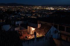 Rooftop Dining (ep_jhu) Tags: lights night x100f spain supper dark light fuji familia españa city fujifilm dinner granada andalucía es