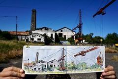 Sketching in Pierrefonds, Reunion Island (P h i l de couleur) Tags: aquarelle architecture usine encre reunion reunionisland sugar patrimoine croquis sketch watercolor