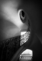 Baroque stairs (petrwag) Tags: černobílé czech clickcamera bw blackandwhite blancoynegro blackwhite noiretblanc noirblanc samyang sony wide fisheye manuallens