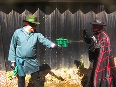 The Spider vs Green Hornet (the_gonz) Tags: thespider thespiderpulp spiderdynamiteentertainment richardwentworth spidercosplay pulp hero cool sexy geek markosigonzarelligascoigne superhero oulphero anithero villain cosplay photoshoot fetish noir avenger dark gothid greenhornet pulpheroes spider dynamiteentertainment