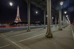 Pont de Bir-Hakeim (scarlet-pimp) Tags: parisien night outdoor europe ceiling bridge eiffeltower pontdebirhakeim canon5d french architecture cityscape france longexposure paris pont îledefrance fr