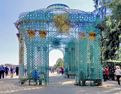 "Trellised Gazebo at Sanssouci Palace. (""DavidJHiom"") Tags: sanssouuci palace garden potsdam gazebo kittsch trellis colourful badtaste"