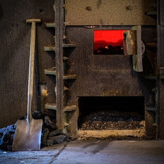 Coal Furnace, Wortley Top Forge(2) (S.R.Murphy) Tags: july2017 wortley wortleytopforge forge industry iron machinery shovel square squareformat fujixt2 fujifilmxf1855mm flickrexplore27072017