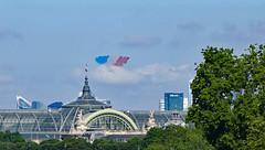 Bastille Day - 14 juillet - flyover begins (Monceau) Tags: juilletquatorze bastilleday flyover airplanes grandpalais