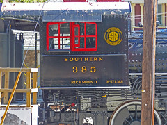 Southern Railway 2-8-0 Consolidation No. 385 (3 of 5) (gg1electrice60) Tags: whippanyrailroadmuseum 1railroadplaza whippany newjersey nj morriscounty route10 stateroad10 sr10 whippanyroad whippanyrd unitedstates usa us america steamengine steamlocomotive 280consolidation sr280number385 southernrailwayno385 sothernrailway southernrwy sr coveredtender blackredsilver locomotive tender consolidation 280wheelarangement southernrailroadlogo southernrailwaylogo hanovertownship railroad railroadstation railroaddepot railroadmuseum railroadyard railroadtracks morristownerierailroad morristownerierailway me merow meyard merailway builtin1907 baldwinlocomotiveworks baldwin sou385 philadelphiapennsylvania built1907 richmond josephsuporjr copyright©michaelzaccardi