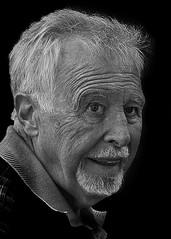 Portrait (D80_481894) (Itzick) Tags: denmark copenhagen candid streetphotography man bw blackbackground bwportrait goatee d800 itzick