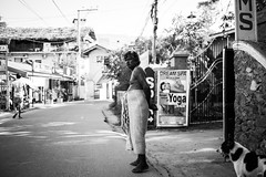 Watching the world go by (jprwpics) Tags: srilanka people faces watching hot heat man shop shopkeeper unawatuna sarong